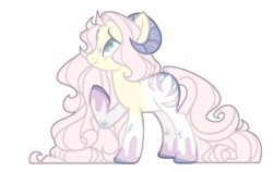 Size: 1584x998 | Tagged: safe, artist:chococolte, oc, earth pony, pony, fangs, female, horns, mare, simple background, solo, transparent background