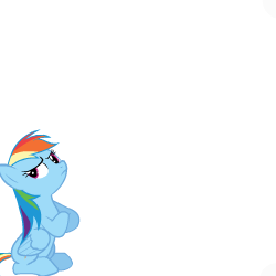 Size: 250x250 | Tagged: safe, artist:sasha-flyer, rainbow dash, pegasus, pony, derpibooru, animated, animated png, apng for breezies, female, forced juxtaposition, juxtaposition, juxtaposition win, mare, meme, meta, multi image animation, simple background, solo, transparent background, vector
