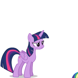 Size: 250x250 | Tagged: safe, artist:sasha-flyer, rainbow dash, twilight sparkle, alicorn, pegasus, pony, derpibooru, animated, animated png, apng for breezies, duo, duo female, female, forced juxtaposition, juxtaposition, juxtaposition win, mare, meme, meta, multi image animation, simple background, transparent background, twilight sparkle (alicorn), vector