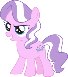 Size: 8216x9289 | Tagged: accessory-less edit, artist:alien13029, diamond tiara, earth pony, edit, editor:slayerbvc, female, filly, missing accessory, safe, show accurate, simple background, solo, transparent background, vector, vector edit