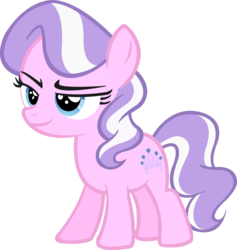 Size: 6736x7109 | Tagged: accessory-less edit, artist:ponyengineer, diamond tiara, earth pony, edit, editor:slayerbvc, female, filly, jewelry, missing accessory, safe, simple background, smug, solo, tiara, transparent background, vector, vector edit