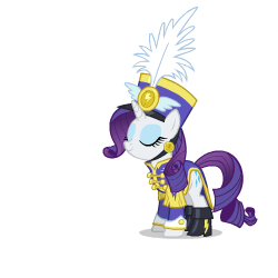Size: 250x250 | Tagged: safe, artist:sasha-flyer, rainbow dash, rarity, pegasus, pony, unicorn, derpibooru, testing testing 1-2-3, ancient wonderbolts uniform, animated, animated png, apng for breezies, female, forced juxtaposition, juxtaposition, juxtaposition win, meme, meta, multi image animation, sgt. rarity, simple background, transparent background, vector