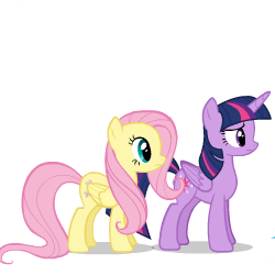 Size: 250x250 | Tagged: safe, artist:sasha-flyer, fluttershy, rainbow dash, twilight sparkle, alicorn, pegasus, pony, derpibooru, testing testing 1-2-3, animated, animated png, apng for breezies, forced juxtaposition, juxtaposition, juxtaposition win, meme, meta, multi image animation, simple background, solo, transparent background, twilight sparkle (alicorn), vector
