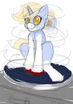 Size: 2480x3507 | Tagged: safe, artist:mcsplosion, oc, oc:nootaz, pony, unicorn, dizzy, female, nootvember, nootvember 2019, sketch, solo, spinning, this will end in vomiting, tiny, tiny ponies, turntable, you spin me right round