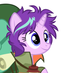 Size: 1200x1414 | Tagged: artist:kody02, camping outfit, lantern, messy mane, pony, safe, simple background, smiling, starlight glimmer, the mean 6, transparent background, unicorn, vector