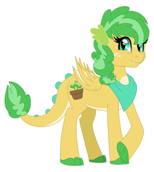 Size: 8956x10000 | Tagged: absurd resolution, artist:faitheverlasting, bandana, dracony, female, hybrid, interspecies offspring, oc, oc:bona fide, oc only, offspring, parent:applejack, parents:applespike, parent:spike, safe, simple background, solo, white background