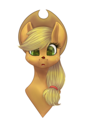 Size: 1579x2147   Tagged: safe, artist:lunagalaxy2003, applejack, earth pony, insect, ladybug, pony, bust, cute, insect on nose, jackabetes, portrait, simple background, solo, transparent background