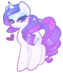Size: 808x928 | Tagged: safe, artist:euphoriapony, rarity, pony, unicorn, cute, female, heart, heart eyes, lidded eyes, mare, pale color, raribetes, simple background, soft color, solo, transparent background, wingding eyes