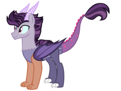 Size: 4500x3375 | Tagged: artist:avatarmicheru, high res, hybrid, interspecies offspring, male, oc, oc:spectacle, offspring, parent:discord, parents:discolight, parent:twilight sparkle, safe, simple background, solo, transparent background