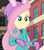 Size: 541x611   Tagged: safe, screencap, fluttershy, equestria girls, equestria girls series, holidays unwrapped, spoiler:eqg series (season 2), blizzard or bust, bunny ears, cropped, cute, shyabetes, solo