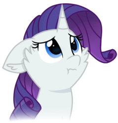 Size: 837x877 | Tagged: safe, artist:rainbow eevee, rarity, pony, unicorn, :t, bust, cheek fluff, cute, female, marshmelodrama, raribetes, rarity being rarity, simple background, solo, transparent background, vector