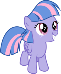 Size: 509x614 | Tagged: safe, artist:crystalmagic6, wind sprint, pegasus, pony, common ground, spoiler:s09e06, female, filly, freckles, simple background, smiling, solo, transparent background, vector