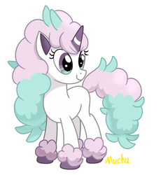 Size: 1184x1288   Tagged: safe, artist:muchu, galarian ponyta, pony, ponyta, pokémon, solo