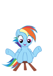 Size: 174x250 | Tagged: animated, animated png, artist:sasha-flyer, cute, dashabetes, rainbow dash, safe, simple background, solo, stooldash, testing testing 1-2-3, transparent background, vector