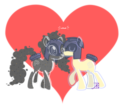 Size: 3000x2573 | Tagged: safe, artist:akili-amethyst, condiment pony, food pony, object pony, original species, pony, condiment, food, pepper shaker, ponified, salt shaker