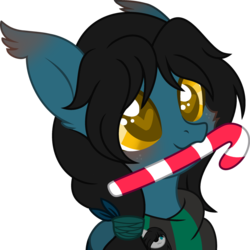 Size: 1280x1280 | Tagged: safe, artist:t-aroutachiikun, oc, oc:mystic flare, pony, base used, bust, candy, candy cane, food, heart eyes, male, portrait, simple background, solo, stallion, transparent background, wingding eyes