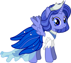 Size: 2092x1860 | Tagged: safe, artist:andrevus, oc, oc only, oc:wandering moonbeam, alicorn, pony, alicorn oc, clothes, cute, dress, jewelry, necklace, simple background, skirt, solo, tiara, transparent background