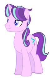 Size: 972x1428 | Tagged: safe, artist:lilith1light, starlight glimmer, pony, unicorn, base used, horn, lidded eyes, male, rule 63, simple background, smiling, solo, stallion, standing, stellar gleam, transparent background