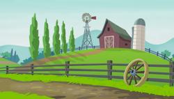 Size: 5329x3033 | Tagged: safe, artist:mohawgo, equestria girls, background, farm, fence, no pony, wheel