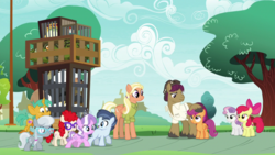 Size: 1920x1080 | Tagged: apple bloom, bufogren, bugbear, cockatrice, cragadile, crocodile, cutie mark crusaders, diamond tiara, mane allgood, safe, scootaloo, screencap, shady daze, silver spoon, snails, snap shutter, snips, spoiler:s09e12, sweetie belle, the last crusade, twist