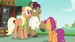 Size: 1920x1080 | Tagged: bugbear, butt, mane allgood, plot, safe, scootaloo, screencap, snap shutter, spoiler:s09e12, the last crusade