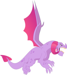 Size: 1024x1141 | Tagged: safe, edit, vector edit, dragon lord torch, twilight sparkle, dragon, campfire tales, fabulous, flying, implied torchlight, male, open mouth, palette swap, recolor, simple background, transparent background, vector