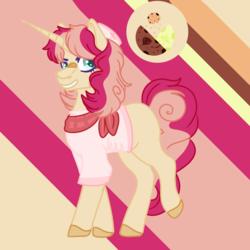 Size: 1500x1500 | Tagged: safe, artist:grateful-dead-raised, flim, pinkie pie, pony, unicorn, nonbinary, parent:flim, parent:pinkie pie, solo