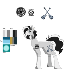Size: 6200x6496 | Tagged: absurd resolution, artist:moonlight0shadow0, eyebrow piercing, female, lip piercing, mare, markings, nose piercing, nose ring, oc, oc:dark wave, oc only, piercing, pony, reference sheet, safe, simple background, solo, tattoo, transparent background, unicorn, unshorn fetlocks