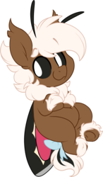 Size: 1129x1933 | Tagged: artist:mulberrytarthorse, bow, chibi, commission, cute, digital art, fluffy, hybrid, male, moth, mothpony, oc, oc only, oc:stem bedstraw, original species, safe, small