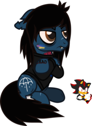Size: 700x964 | Tagged: artist:lightningbolt, bags under eyes, blushing, bone, bring me the horizon, clothes, colored blushing, crossed hooves, derpibooru exclusive, earth pony, fangs, floppy ears, grumpy, long sleeves, male, oc, oliver sykes, plushie, ponified, pony, safe, scar, shadow the hedgehog, shirt, simple background, sitting, solo, sonic the hedgehog (series), stallion, stitches, svg, .svg available, tattoo, transparent background, undead, vector, zombie, zombie pony