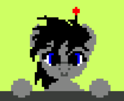 Size: 617x501   Tagged: safe, artist:wvdr220dr, oc, earth pony, pony, robot, robot pony, 1997, female, game, imfomaz os, mare, pixel art, software, solo