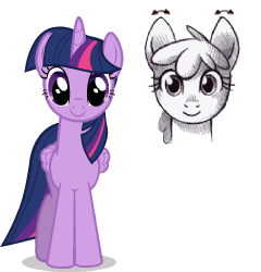 Size: 240x250 | Tagged: alicorn, animated, animated png, artist:sasha-flyer, ear twitch, floppy ears, safe, simple background, solo, transparent background, twilight sparkle, twilight sparkle (alicorn)