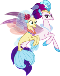 Size: 3963x5032 | Tagged: safe, artist:vector-brony, princess skystar, queen novo, seapony (g4), my little pony: the movie, the ending of the end, duo, female, high res, mother and daughter, simple background, transparent background, vector