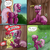 Size: 2001x2001 | Tagged: safe, alternate version, artist:smudge proof, apple bloom, cheerilee, earth pony, pony, belly button, but why, butt, comic, dock, female, filly, frog (hoof), implied pissing, mare, outhouse, peegasm, plot, toilet, underhoof