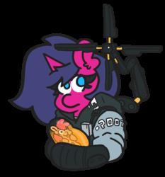 Size: 700x750 | Tagged: safe, artist:threetwotwo32232, oc, oc:fizzy pop, oc:wafflecakes, earth pony, pony, unicorn, death stranding, female, mare, mlem, parody, silly, tongue out