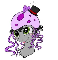 Size: 894x928 | Tagged: safe, artist:rinikka, oc, oc:hatter, earth pony, jellyfish, pony, blushing, cute, green eyes, hat, male, man o'war, solo, stallion, top hat