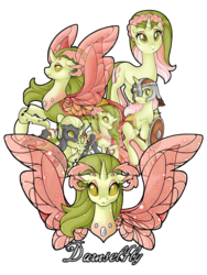 Size: 774x1032 | Tagged: artist:ulfruna, changedling, changedling oc, changeling, changeling oc, disguise, disguised changeling, female, green changeling, helmet, mare, oc, oc:damselfly, oc only, pony, safe, shield, simple background, transformation, transparent background, unicorn