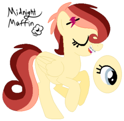 Size: 397x387 | Tagged: safe, artist:xxmidnightmuffinxx, oc, oc:prisma parmesan, pegasus, pony, base used, braces, eyes closed, female, filly, hairclip, offspring, parent:cheese sandwich, parent:rainbow dash, parents:cheesedash, signature, simple background, transparent background
