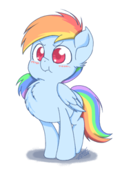 Size: 867x1225 | Tagged: angry, artist:natsu714, behaving like a bird, blushing, chest fluff, cute, dashabetes, ear fluff, female, filly, filly rainbow dash, pegasus, pony, rainbow dash, safe, simple background, solo, :t, transparent background, younger