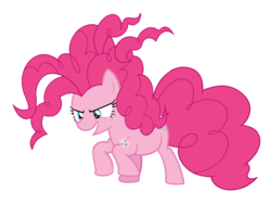 Size: 1738x1307 | Tagged: background removed, bell, chaos magic, chaos pinkie, earth pony, edit, edited screencap, female, grogar's bell, mare, open mouth, pinkie pie, ponk, pony, safe, screencap, simple background, smiling, solo, spoiler:s09e24, spoiler:s09e25, the ending of the end, transparent background, vector