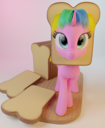 Size: 2652x3216 | Tagged: safe, artist:gabe2252, oc, oc:constant time, 3d, blender, bread, breading, cycles, food