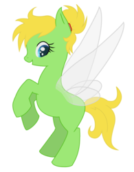 Size: 790x1011 | Tagged: safe, artist:kalaverapastillera, fairy, fairy pony, original species, pony, disney fairies, fairy wings, peter pan, ponified, tinker bell, tinkerbell, wings