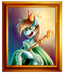 Size: 1650x1897 | Tagged: artist:its-gloomy, cape, clothes, crown, jewelry, oc, pony, regalia, safe, solo, staff
