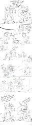 Size: 1500x6000   Tagged: safe, artist:greyscaleart, princess cadance, shining armor, twilight sparkle, alicorn, pony, unicorn, bully, bullying, colt, colt shining armor, comic, female, filly, filly twilight sparkle, flashback, magic, male, monochrome, spinning, telekinesis, water balloon, younger