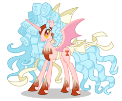 Size: 1642x1366 | Tagged: safe, edit, cozy glow, alicorn, pony, the ending of the end, alicornified, armor, bat wings, chaos cozy glow, chaos magic, cozycorn, evil, female, freckles, gauntlet, giant demon alicorn cozy glow, giant pony, greaves, helmet, horn, macro, mare, ponied up, race swap, ribbon, scarf, simple background, slit eyes, solo, spread wings, transparent background, vector, wings