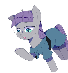 Size: 1402x1500 | Tagged: artist:stuwor-art, boulder (pet), earth pony, maud pie, pony, rock, safe, simple background, white background
