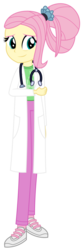 Size: 1400x4294 | Tagged: safe, artist:sketchmcreations, fluttershy, equestria girls, the last problem, spoiler:s09e26, clothes, commission, equestria girls interpretation, lab coat, older, older fluttershy, scene interpretation, simple background, stethoscope, transparent background, vector