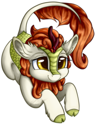 Size: 781x1023 | Tagged: artist:gleamydreams, autumn blaze, awwtumn blaze, cloven hooves, cute, female, kirin, leonine tail, safe, simple background, solo, transparent background