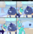 Size: 878x911   Tagged: safe, artist:sky-railroad, artist:viwrastupr, oc, oc only, oc:kno change, unnamed oc, kirin, nirik, pony, comic:the not very magical adventures of kno change, cartoon physics, eating, fluffy, grapefruit, impact silhouette, snow, winter fluff