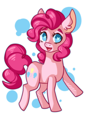 Size: 2500x3550 | Tagged: abstract background, artist:mintpencil, cute, diapinkes, ear fluff, earth pony, female, heart eyes, high res, mare, no pupils, open mouth, pinkie pie, pony, safe, solo, wingding eyes